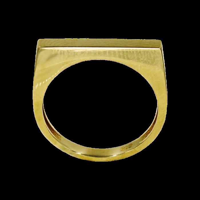 Δαχτυλίδι χρυσό λουστρέ 14Κ - D1003