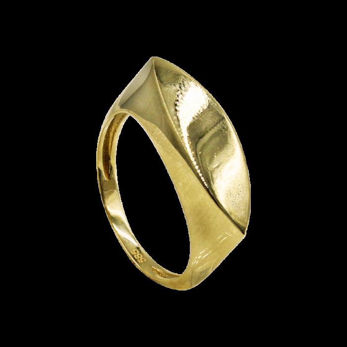 Δαχτυλίδι χρυσό λουστρέ 14Κ - D1004
