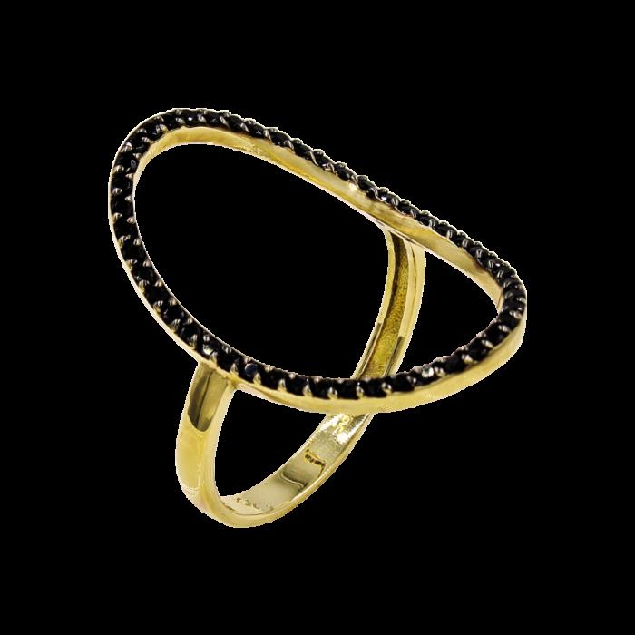 Δαχτυλίδι χρυσό με ζιργκόν πέτρες 14Κ - D1005