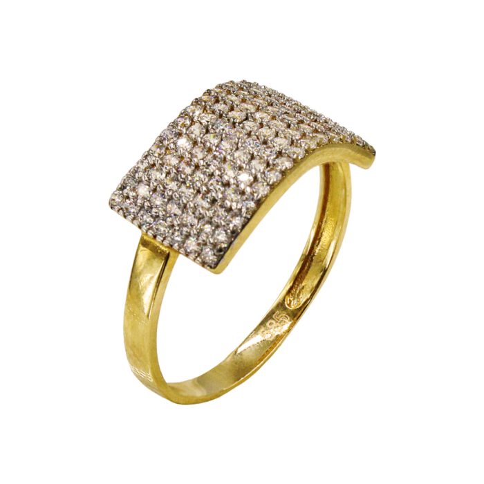 Δαχτυλίδι χρυσό με ζιργκόν πέτρες 14Κ - D1010