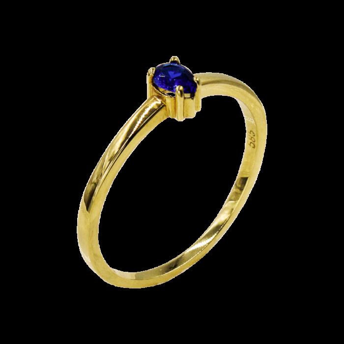 Δαχτυλίδι χρυσό με ζιργκόν πέτρα 14Κ - D1012B