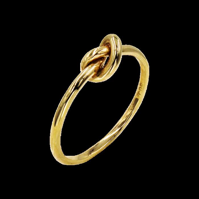 Δαχτυλίδι κόμπος χρυσό 14Κ - D1014