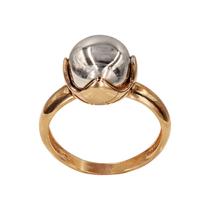 Δαχτυλίδι δίχρωμο 14Κ - D1048
