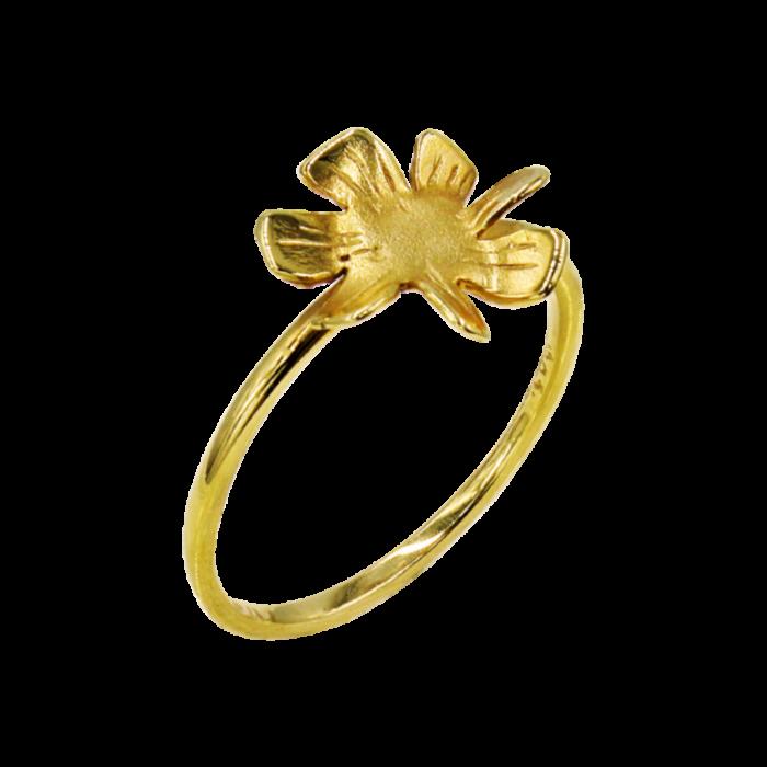 Δαχτυλίδι λουλούδι χρυσό 14Κ - D2027
