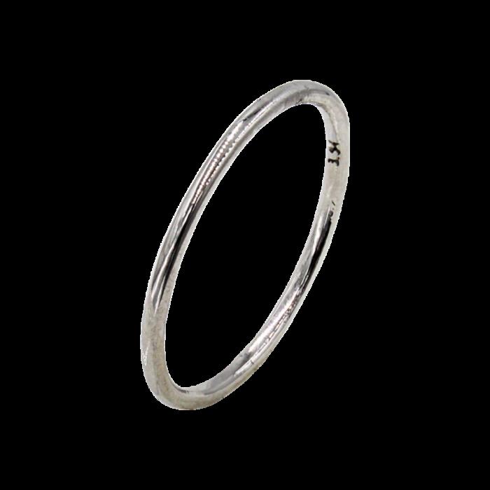 Δαχτυλίδι βέρα λευκόχρυσο 14Κ - D2218L