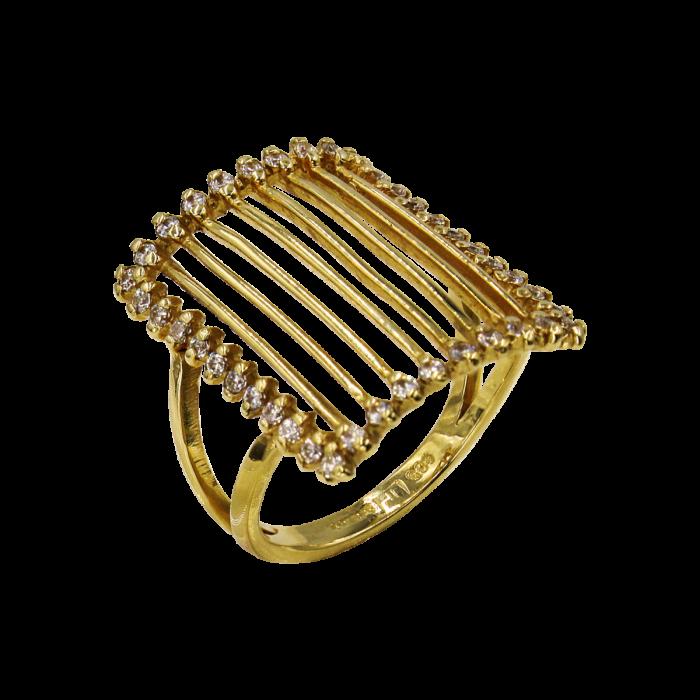 Δαχτυλίδι χρυσό με ζιργκόν πέτρες 14Κ - D51242