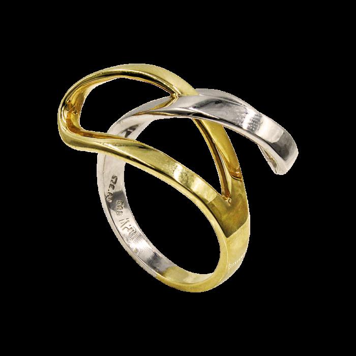 Δαχτυλίδι δίχρωμο 14Κ - D51300