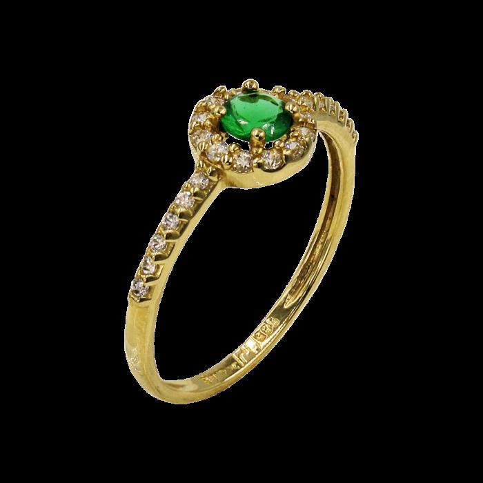 Δαχτυλίδι χρυσό με ζιργκόν πέτρες 14Κ - D51550