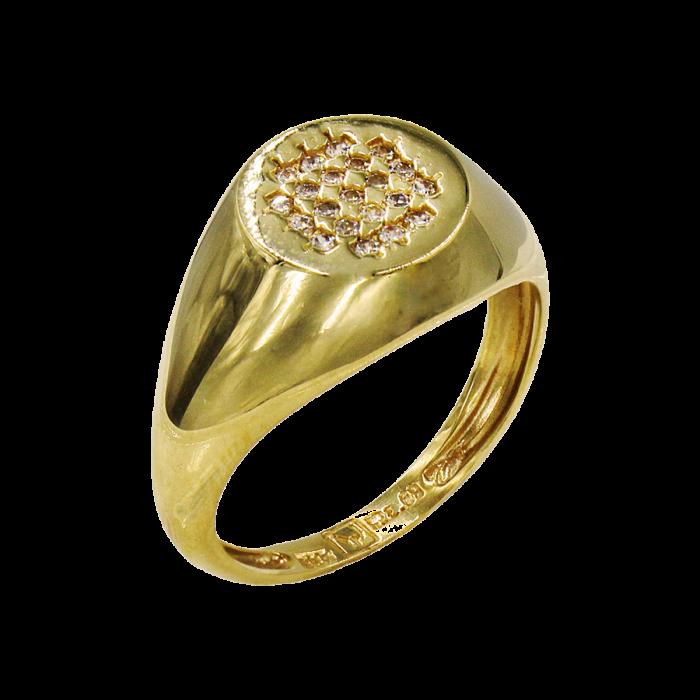 Δαχτυλίδι χρυσό με ζιργκόν πέτρες 14Κ - D51646