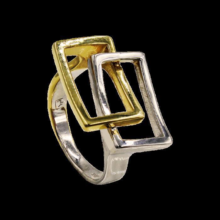 Δαχτυλίδι δίχρωμο 14Κ - D5186