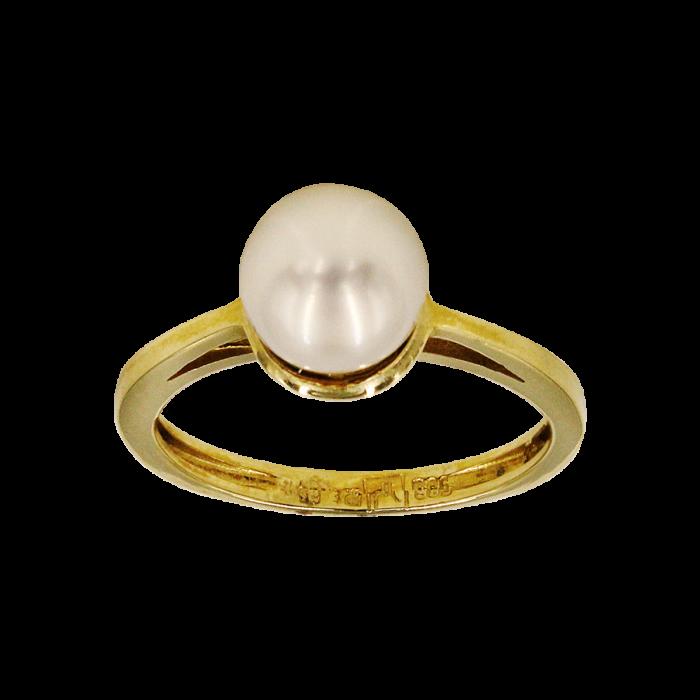 Δαχτυλίδι χρυσό 14Κ με μαργαριτάρι - MRD1005