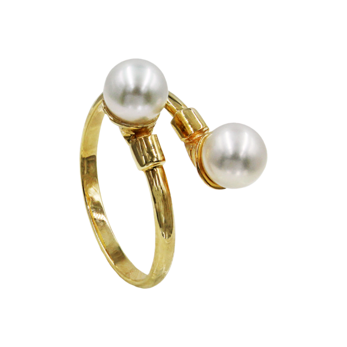 Δαχτυλίδι χρυσό 14Κ με μαργαριτάρια - MRD1015