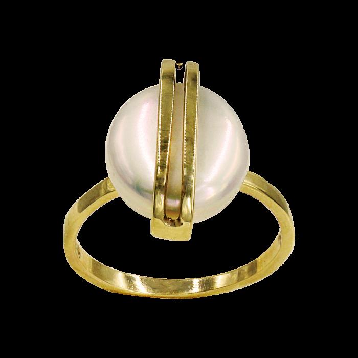 Δαχτυλίδι χρυσό 14Κ με μαργαριτάρι - MRD1100