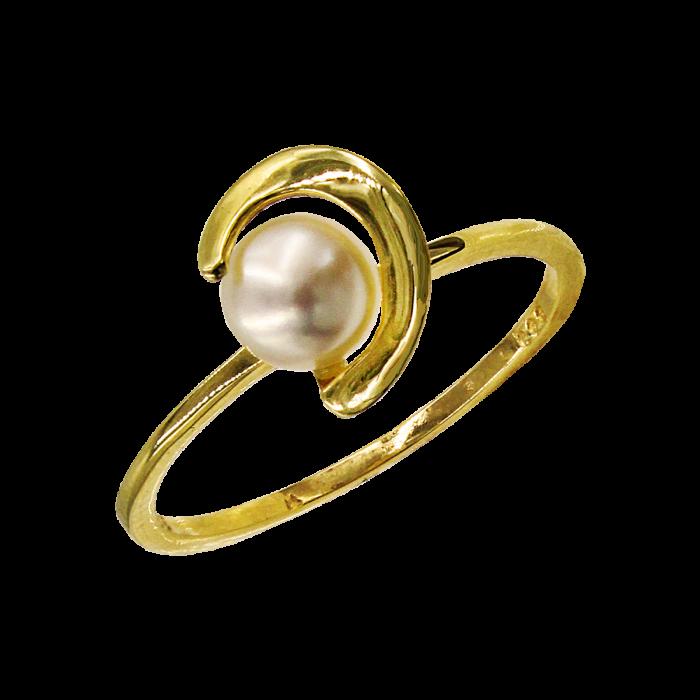 Δαχτυλίδι χρυσό 14Κ με μαργαριτάρι - MRD1140
