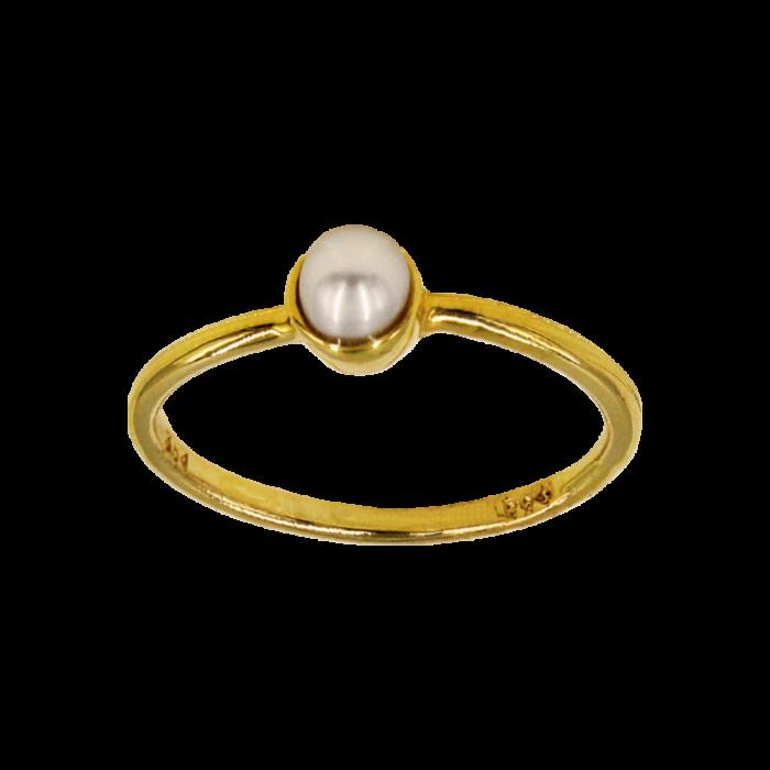 Δαχτυλίδι χρυσό 14Κ με μαργαριτάρι - MRD1142
