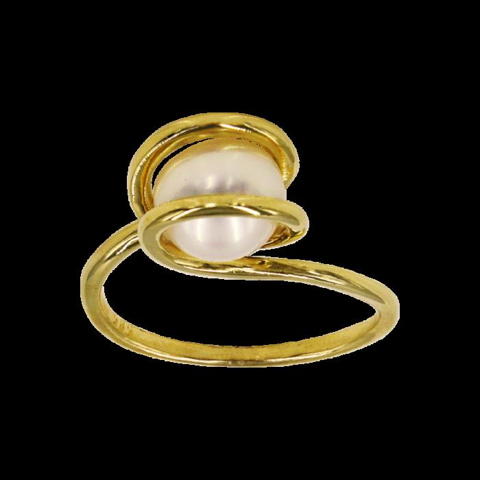Δαχτυλίδι χρυσό 14Κ με μαργαριτάρι - MRD1184