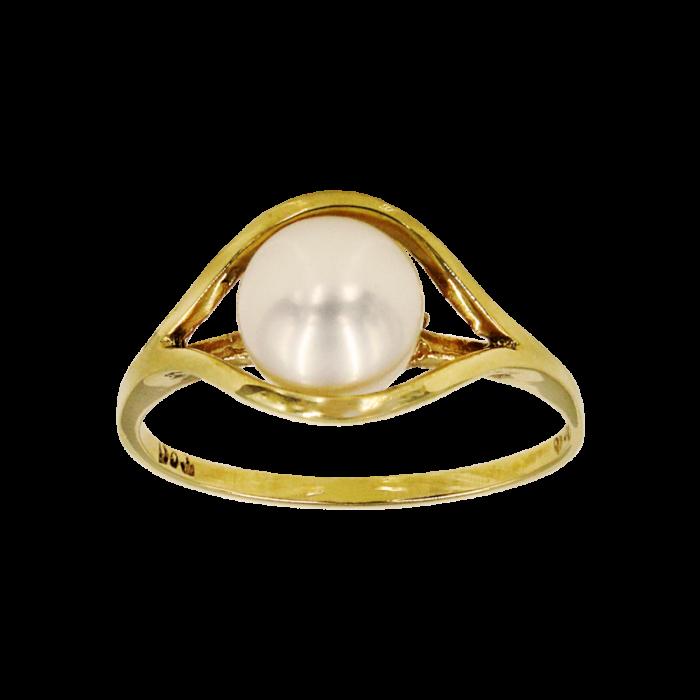 Δαχτυλίδι χρυσό 14Κ με μαργαριτάρι - MRD2061