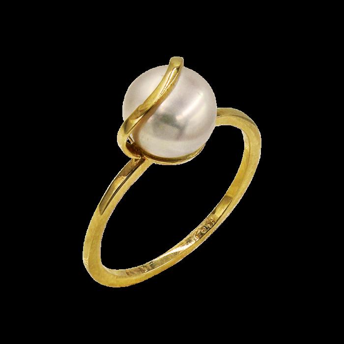 Δαχτυλίδι χρυσό 14Κ με μαργαριτάρι - MRD2073