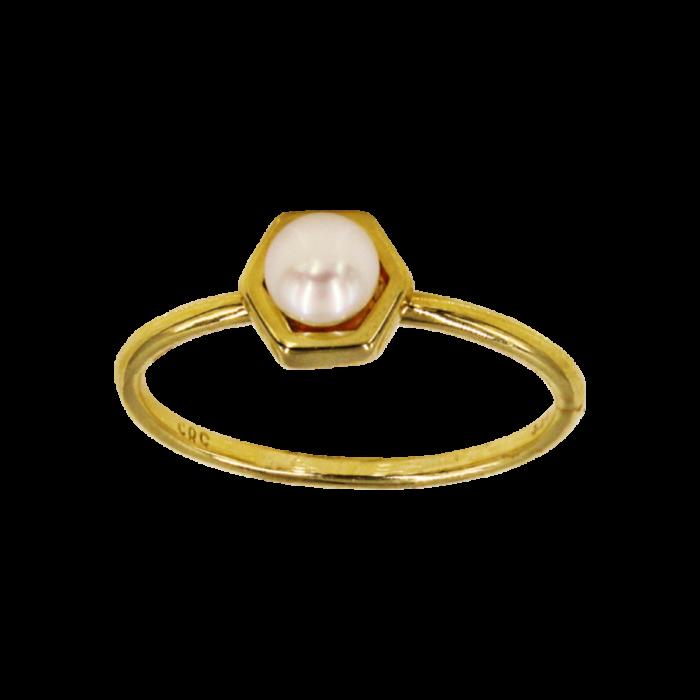 Δαχτυλίδι χρυσό 14Κ με μαργαριτάρι - MRD2113