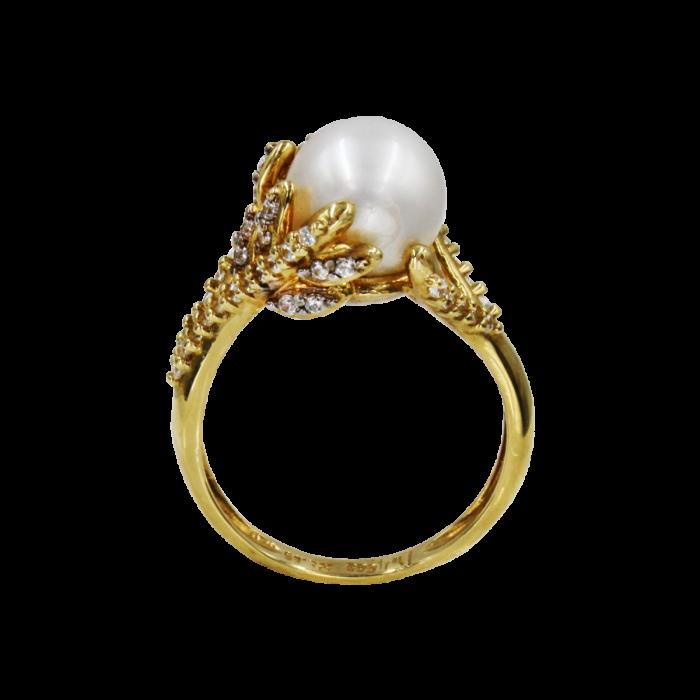Δαχτυλίδι χρυσό 14Κ με μαργαριτάρι ζιργκόν - MRD51501