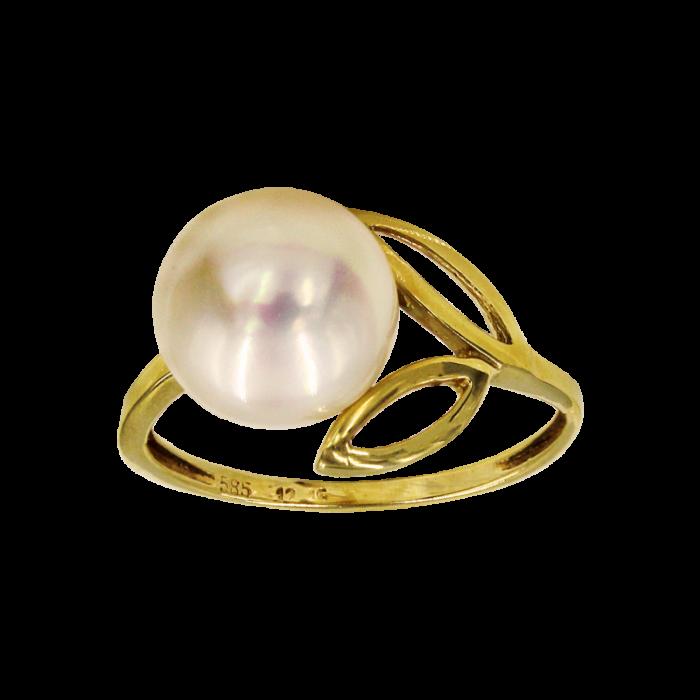 Δαχτυλίδι χρυσό 14Κ με μαργαριτάρι - MRD965