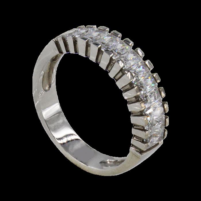 Σειρέ δαχτυλίδι λευκόχρυσο 14Κ - SD1001
