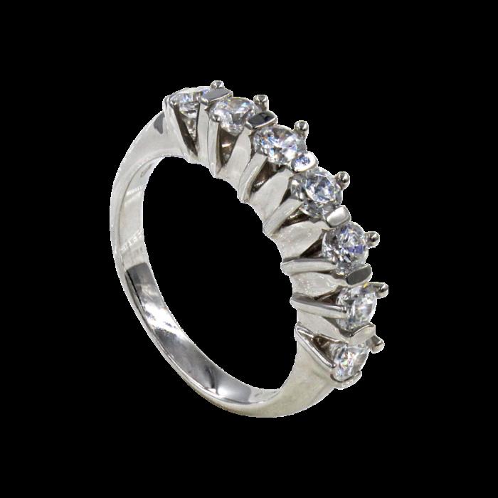 Σειρέ δαχτυλίδι λευκόχρυσο 14Κ - SD1002