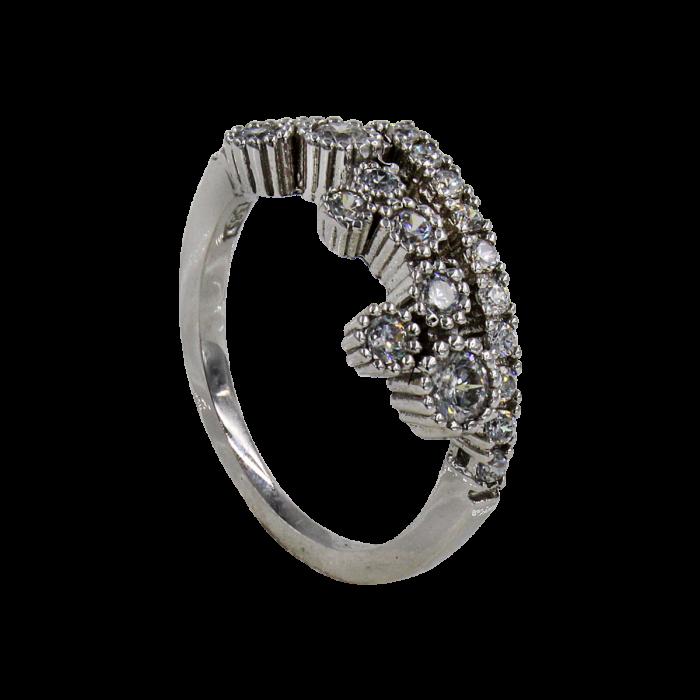 Δαχτυλίδι λευκόχρυσο 14Κ - SD1003
