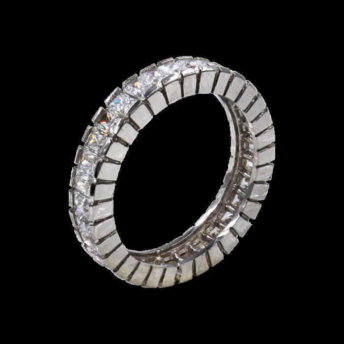 Σειρέ δαχτυλίδι λευκόχρυσο 14Κ - SD1004