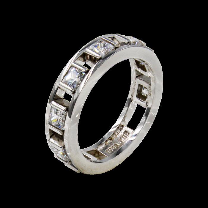 Σειρέ δαχτυλίδι λευκόχρυσο 14Κ - SD1005