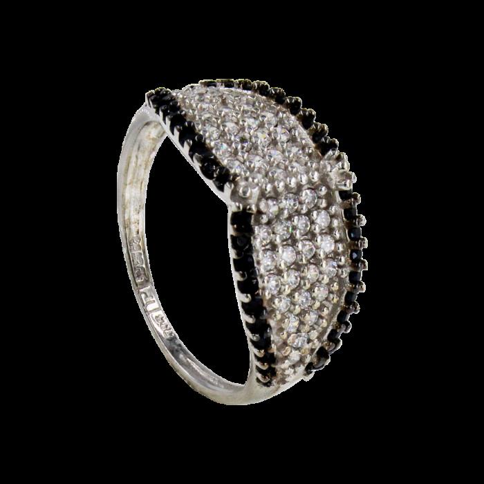 Δαχτυλίδι λευκόχρυσο 14Κ - SD41531