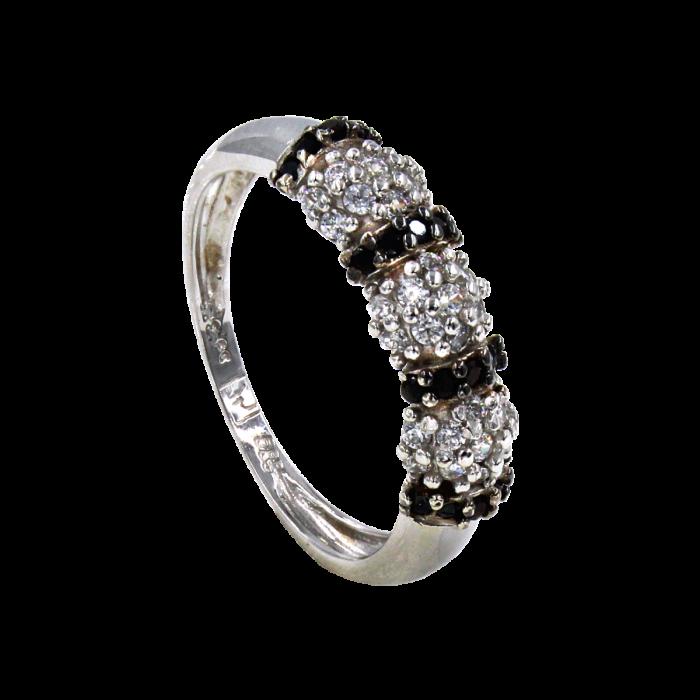 Δαχτυλίδι λευκόχρυσο 14Κ - SD41567