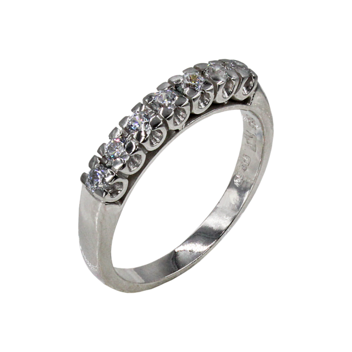 Σειρέ δαχτυλίδι λευκόχρυσο 14Κ - SD4165