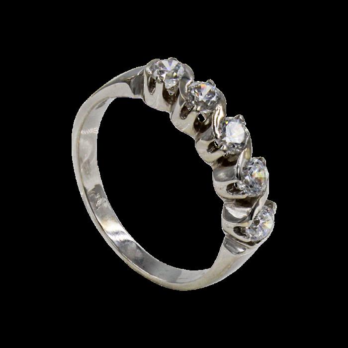 Σειρέ δαχτυλίδι λευκόχρυσο 14Κ - SD4261