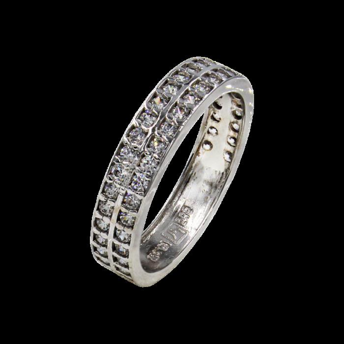 Σειρέ δαχτυλίδι λευκόχρυσο 14Κ - SD4593