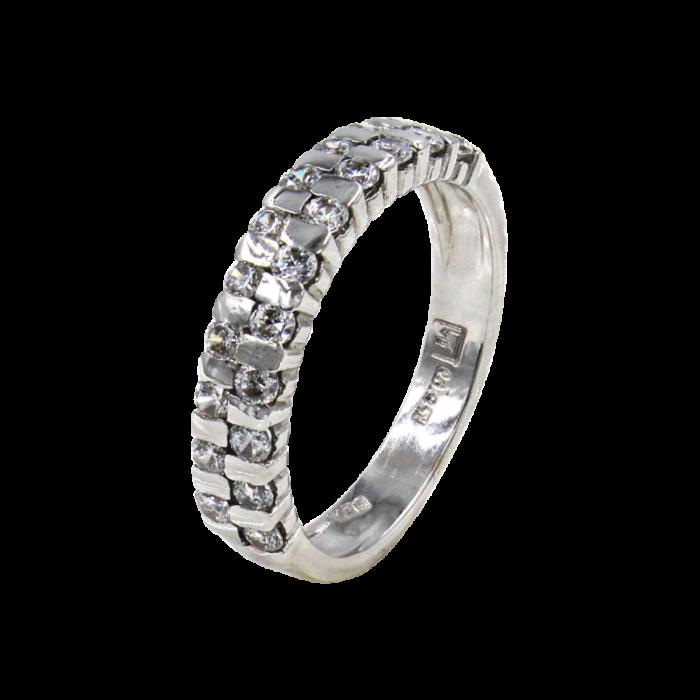 Σειρέ δαχτυλίδι λευκόχρυσο 14Κ - SD4664