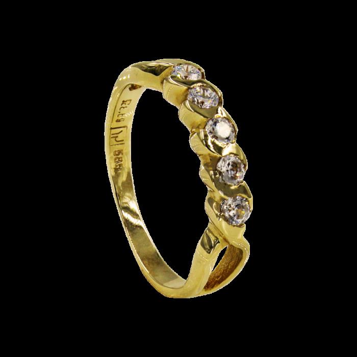 Σειρέ δαχτυλίδι χρυσό 14Κ - SD5233