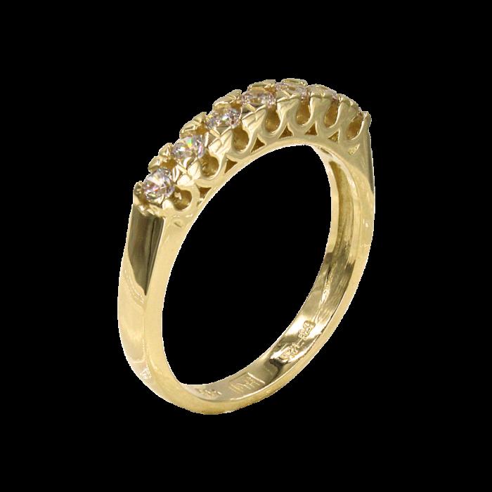 Σειρέ δαχτυλίδι χρυσό 14Κ - SD52334