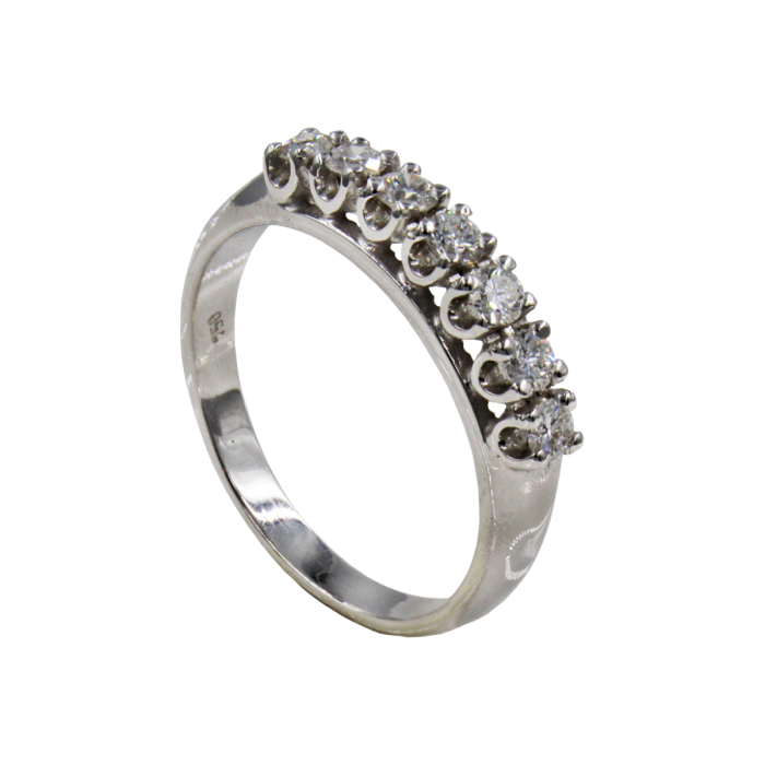 Σειρέ δαχτυλίδι λευκόχρυσο 18Κ - SDB2006