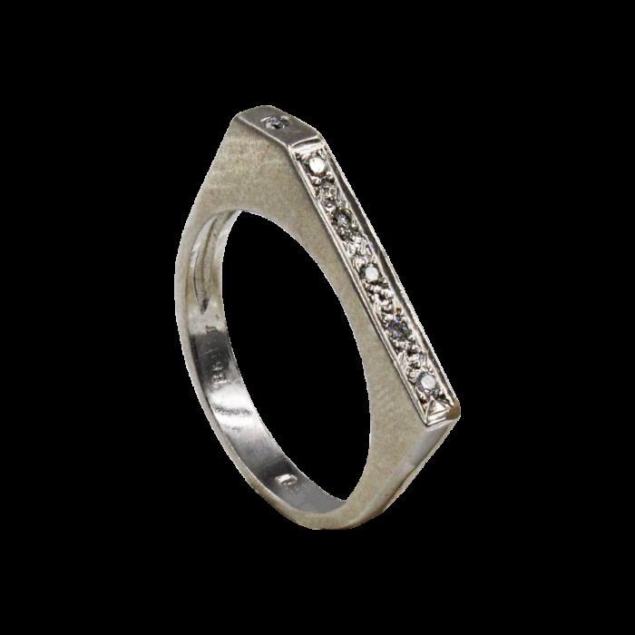 Σειρέ δαχτυλίδι λευκόχρυσο 18Κ - SDB778