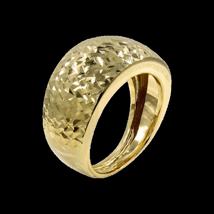 Δαχτυλίδι Χρυσό Σφυρήλατο 14Κ - D1077