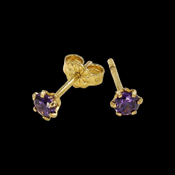 Παιδικά σκουλαρίκια χρυσά 9Κ - PSK1007