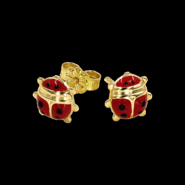 Παιδικά σκουλαρίκια πασχαλίτσες χρυσά 14Κ - PSK1030