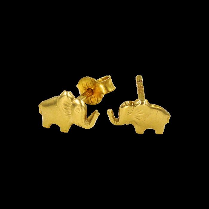 Σκουλαρίκια ελεφαντάκια χρυσά 14Κ - PSK1050