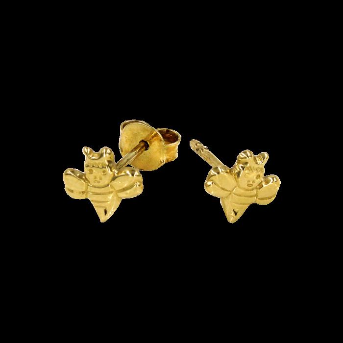 Σκουλαρίκια μελισσούλες χρυσά 14Κ - PSK1051