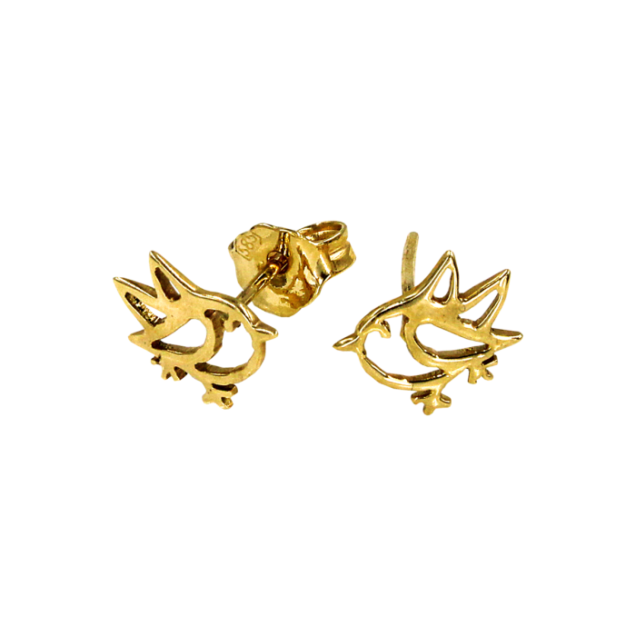 Σκουλαρίκια Πουλάκια Χρυσά 14Κ - PSK1053