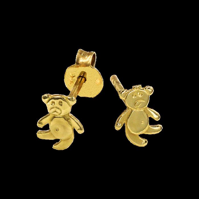 Παιδικά σκουλαρίκια αρκουδάκια χρυσά 14Κ - PSK1058