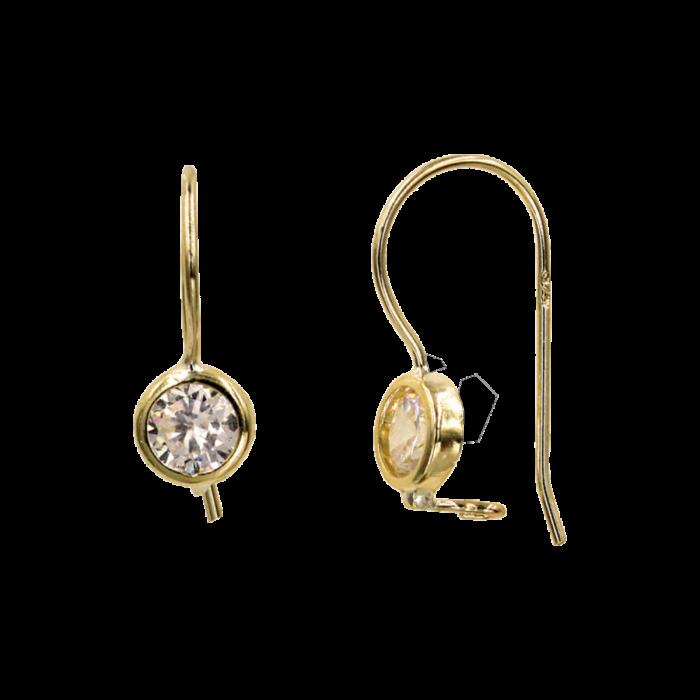 Παιδικά σκουλαρίκια κρεμαστά χρυσά 9Κ - PSK1075