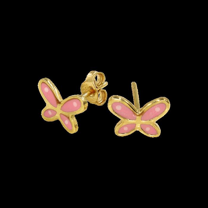 Παιδικά σκουλαρίκια πεταλούδες χρυσά 14Κ - PSK1077