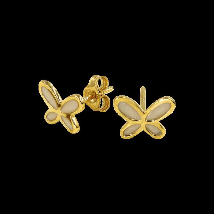 Παιδικά σκουλαρίκια πεταλούδες χρυσά 14Κ - PSK1078
